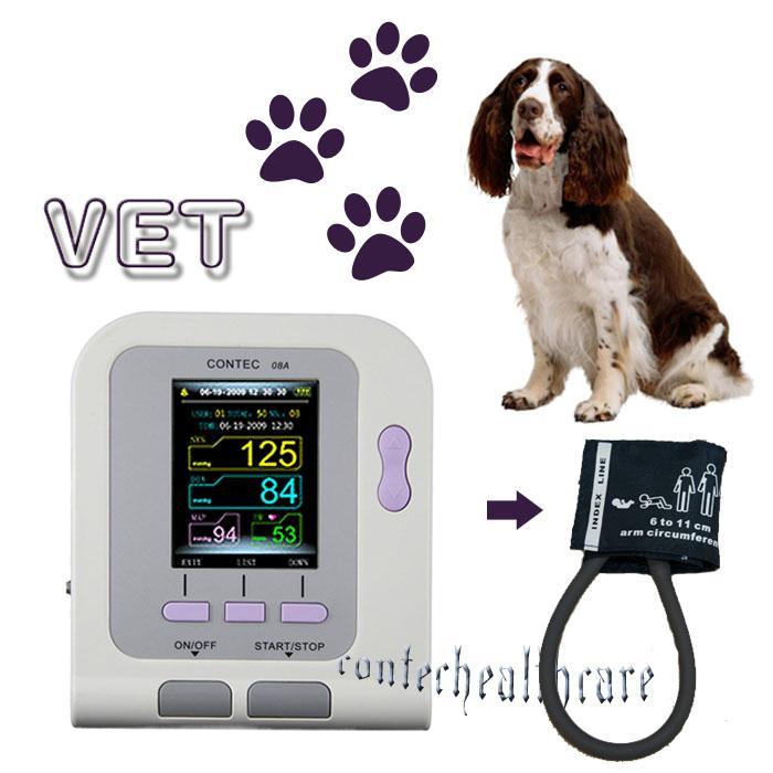 Vet Veterinary, OLED digital Blood Pressure & Heart Beat Monitor NIBP CONTEC08A digital veterinary nibp blood pressure monitor with spo2 probe for vet contec08a