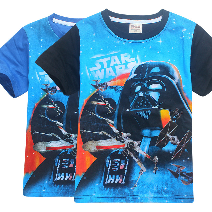 2017 Summer Rogues Star Wars One Children Baby Boys Short-Sleeved T Shirt Kids 4-11 Years Old T-Shirt Fashion Cartoon Tops Tees