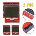 2 Pcs Mini PCD8544 Módulos 84x48 LCD Tela Tela Escudo Módulo para Raspberry Pi B B + Tutorial para Condução de Torta de Framboesa