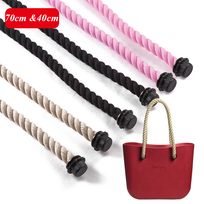 1 pair long short rope handles for Obag AMbag women's bags hemp shoulder bag handbag taping obag handle size 70cm 40cm