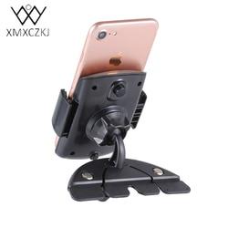 XMXCZKJ uchwyt do smartfona wsparcie uchwyt samochodowy uchwyt na CD Gps stojak uchwyt na telefon samochodowy uniwersalny 360 stopni obrót