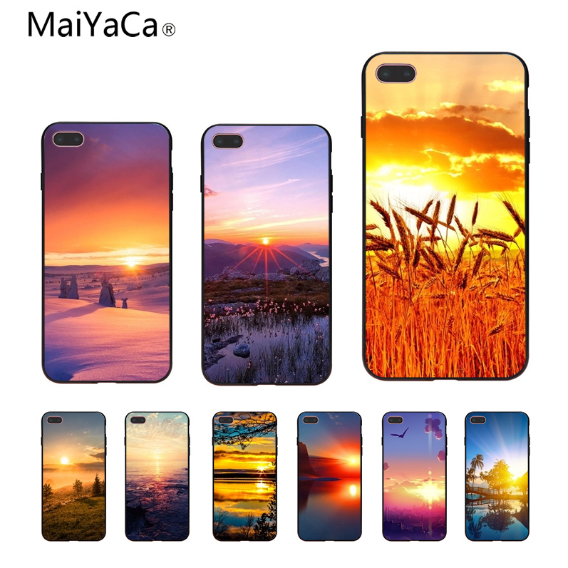 MaiYaCa Sunset sun Ultra Thin Cartoon Pattern Phone Case For iphone 6 6s 6plus 6S plus 7 7plus 8 8plus 5 5s 5C Case cover