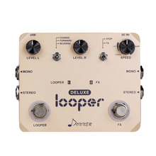 Donner Deluxe Looper Guitar Effect -pedaali 10 minuuttia looping rajoittamaton overdubs Loop Station