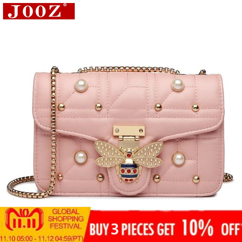 2018 NEW Designer Women Shoulder Bag Chain Strap Flap Brands leather Handbags Clutch Bag girls Messenger Bags With bee Buckle