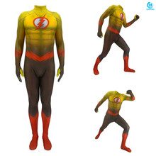 3D printing Adult Kids Anime The Flash Cosplay Costume Zentai Bodysuit Suit Jumpsuits  Men  costume цена