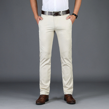 سروال رجالي كلاسيكي للرجال من Homme سروال مريح للأعمال التجارية باللونين الأبيض والأسود للرجال