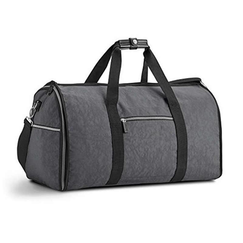 Travel Bags Hand Luggage Men Bag For Suit 2 In 1 Busines Duffle Garment Traveling Trip Organizer Shoulder Handbag