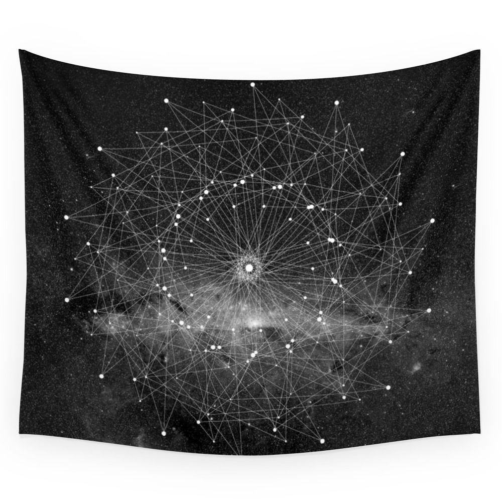 STARGAZING IS LIKE TIME TRAVEL Wall Tapestry Fabric Wall Hanging Tapestry Decor Polyester Curtains Plus Long Table Cover