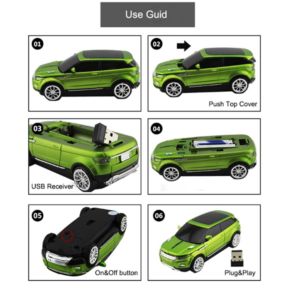 Անլար մուկ Վերջին SUV Fashion Super Sport Car Mouse - Համակարգչային արտաքին սարքեր - Լուսանկար 5