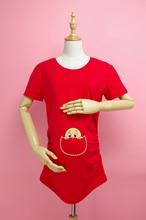 Print Maternity Shirt Gravida Top Pregnancy Clothing