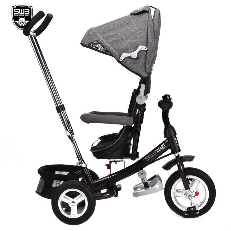 все цены на Folding Child Tricycle Baby Bike Multifunctional baby trolley онлайн