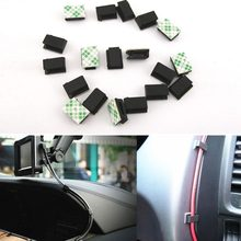 40 pcs self adhesive adjustable fixed screw mount base bracket holder wire  management harness clamp cable clip #269254