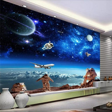 Custom wallpaper murals creative cosmic starry galaxy ceiling wall - high-grade waterproof material