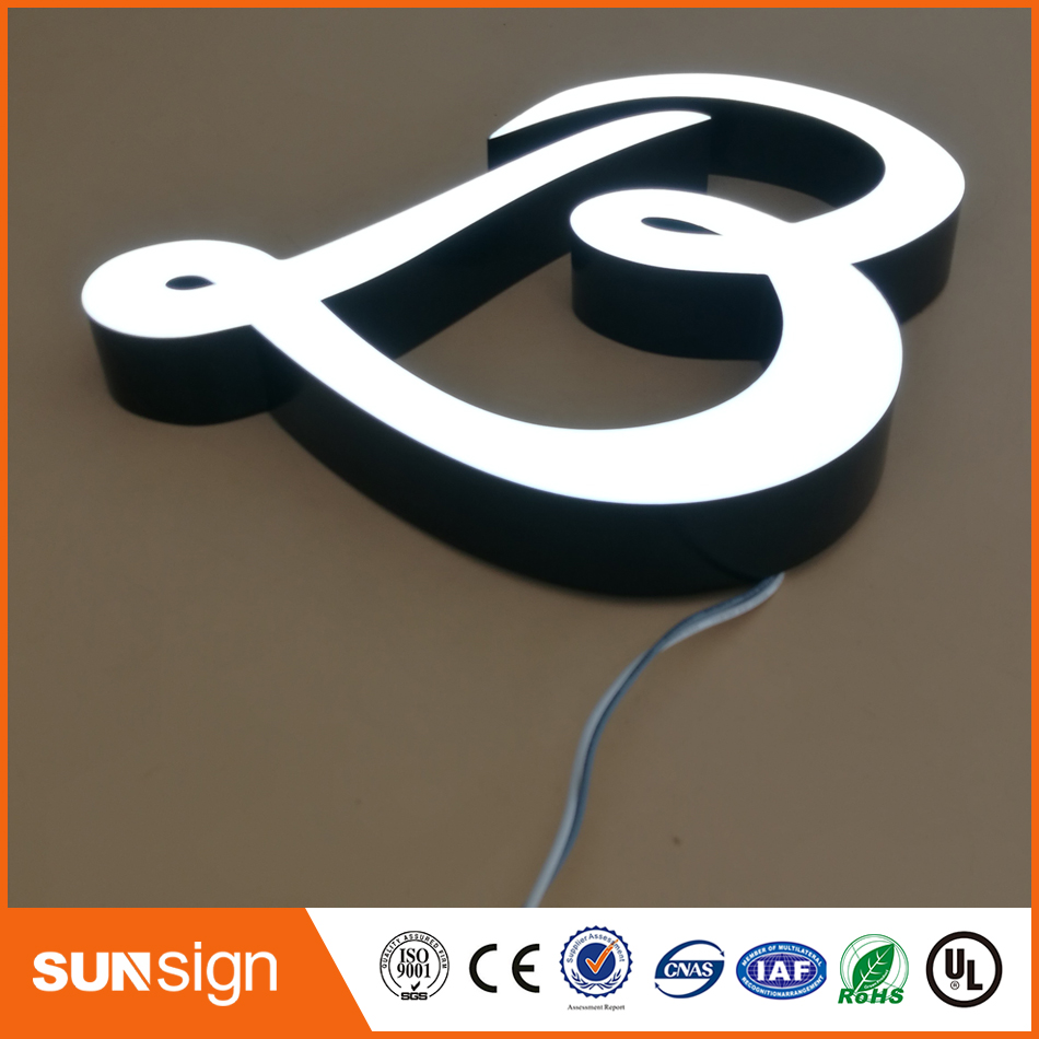 Outdoor Epoxy Resin Led Channel Letters Sign Board Designs For Shops