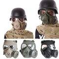 Equipo militar exterior bioquímica M04 máscara táctica de la cara llena de máscaras de Gas con ventilador respirador Anti vaho caza accesorios