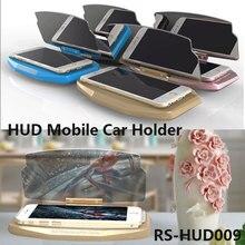 HUD Heads Up Дисплей Автомобиля Телефон GPS Навигации Изображения Отражатель Телефон GPS Автомобильный Держатель Для Смартфонов Не скользит мат RS-HUD009