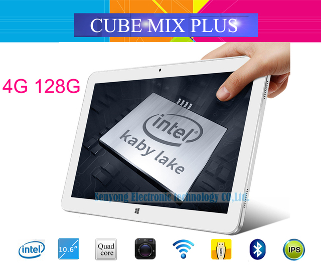 Original Cube Mix plus 2 in 1 Tablet PC 10.6'' IPS 1920x1080 Windows 10 Intel Kabylake 7Y30 Dual Core 4GB/128GB Camera Type C