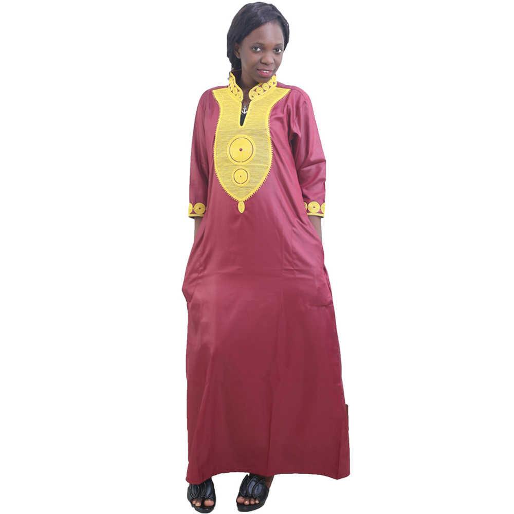 MD גלימת Africaine Femme 2020 רקמת דאשיקי מקסי שמלות דרום אפריקה גבירותיי אנקרה שמלת Boubou Bazin Riche אופנה בגדים