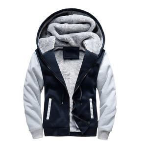 Image 5 - Мужская толстовка большого размера 7XL 8XL 9XL 10XL, осенне зимняя синяя, красная, панельная, черная, серая куртка на молнии с длинными рукавами