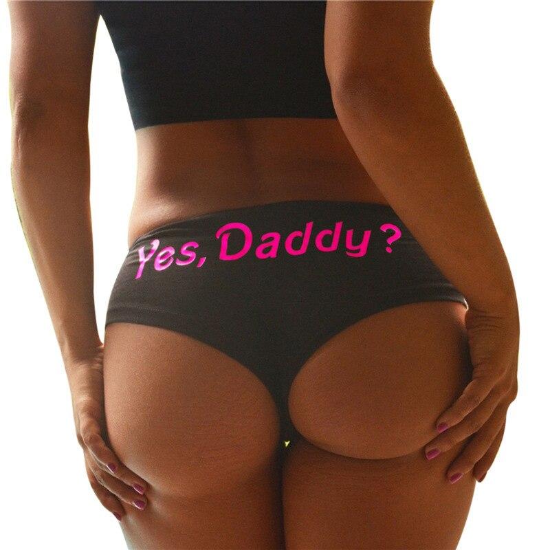 Women's Panty  Sexy Panties  Women Underwear  Seamless Panties Women Letter Printed Underwear Yes Daddy Hot Fashion