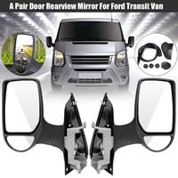 Left/Right Car Short Arm Wing Manual Door Mirror Replacement for Ford Transit Van MK7 2006 2014 Car Exterior Part