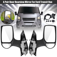 Left/Right Car Short Arm Wing Manual Door Mirror Replacement for Ford Transit Van MK7 2006 2014