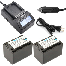 DuraPro 2Pcs NP-FV70 battery + LCD Extremely Fast Charger for SONY HDR-CX230 HDR-CX150E HDR-CX170 CX300 HDR XR550E XR350E XR150E