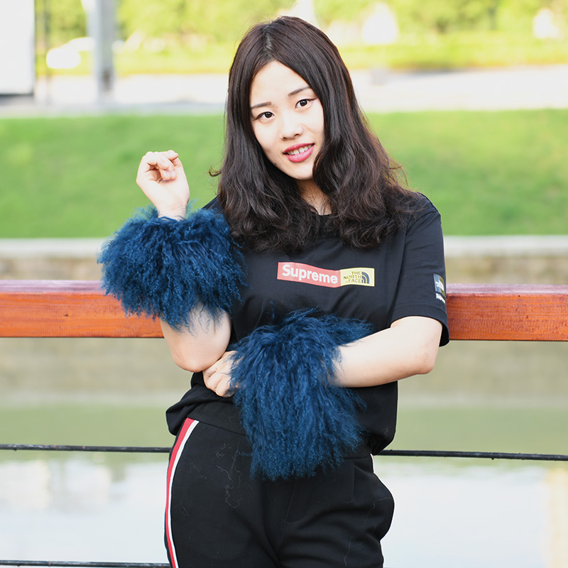 Sparsam Cx-a-47m Mode Frauen Mongolischen Lamm Pelz Manschette Über Hülse Armband Winddicht Arm Wärmer Armstulpen