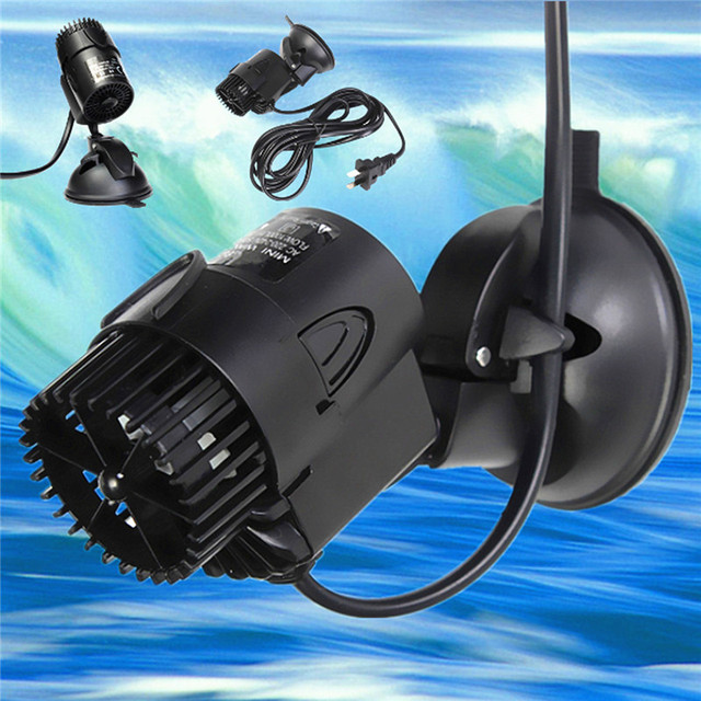 Hot Sale 3W Black Aquarium Wave Maker Pump 50/60HZ For Nano Coral Reef  Marine Fish Tank 3000L/H 220V 240V 6X10cm-in Water Pumps from Home & Garden  on