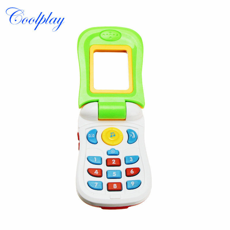 Funny Flip Phone Toy Baby Learning Study Musical Sound Cellphone Educational Learning Toy Mobile Phone Electric Toy Gift for Kid image