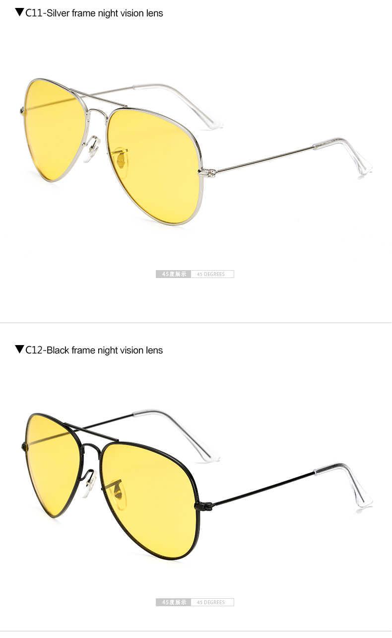 Longحارس عشاق الاستقطاب يوم و للرؤية الليلية نظارات عدسات صفراء اللون القيادة النظارات الشمسية الرجال العلامة التجارية مصمم الضفدع نظارات نظارات