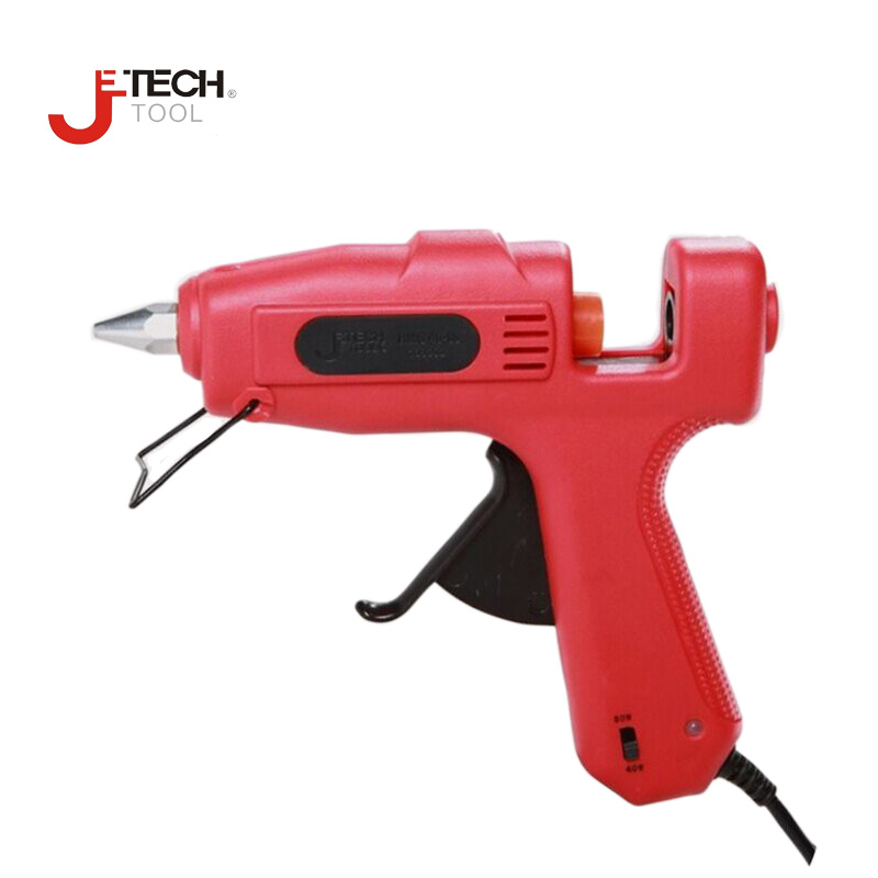 ФОТО Jetech professional adjustable 40W 60W 80W 100W hot melt feed glue gun all purpose