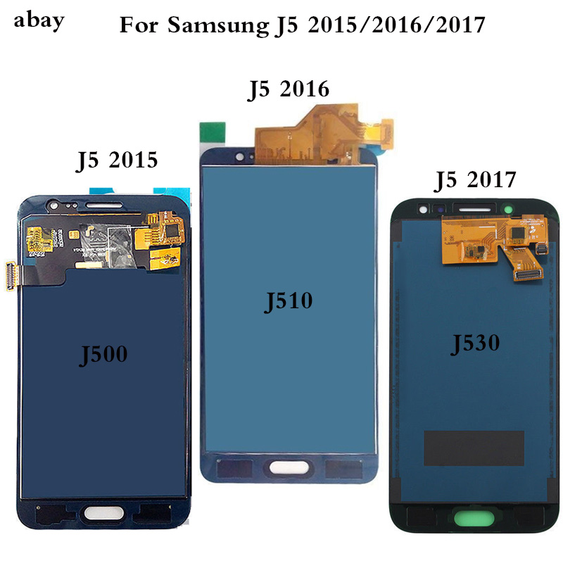 Adjustable LCD J530 J510 J500 2017 2016 2015 For Samsung Galaxy J5 2015 2016 2017 Display Touch Screen RepairDigitizer Assembly