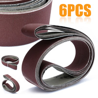 Mayitr 6Pcs 2 X 72 Grit Sanding Belts With Grit 180 240 320 400 600 800