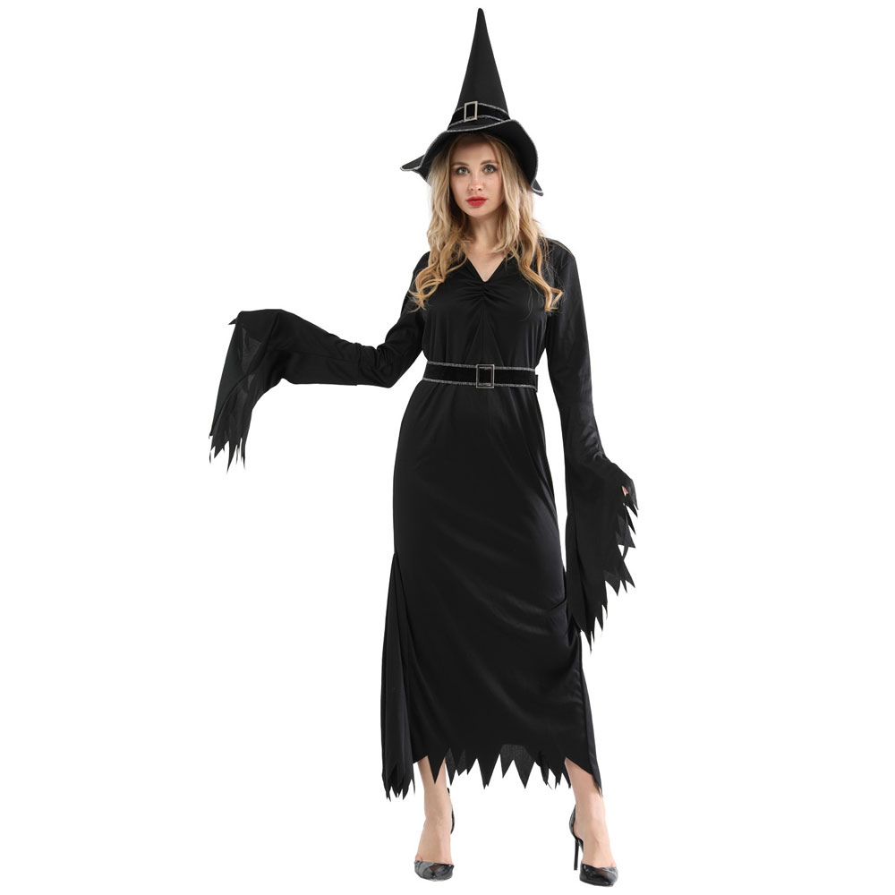 Adult Womens Darkness Wicked Witch Costume Cosplay Halloween Carnival Mardi Gras Party Fancy Dress