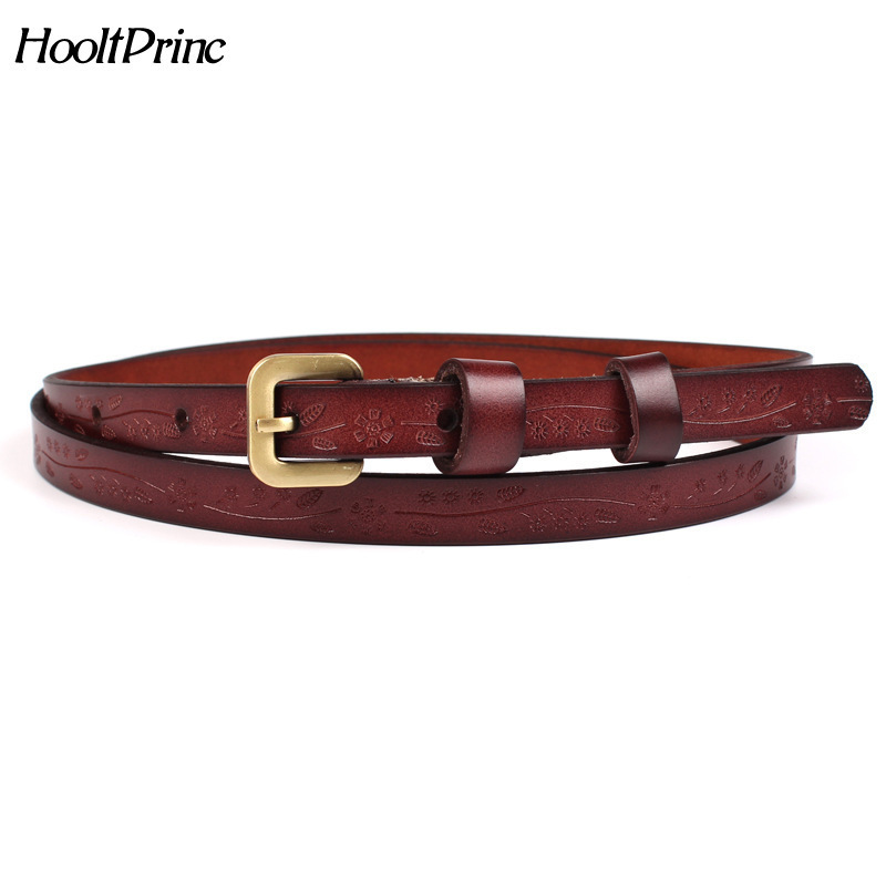 2018 Good Women   Belts   Cow Genuine Leather Pin Buckle Vintage Style Top Quality Newest Luxury Female Strap Original