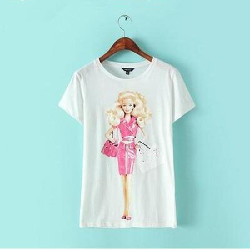 online buy wholesale barbie t shirt from china barbie t. Black Bedroom Furniture Sets. Home Design Ideas