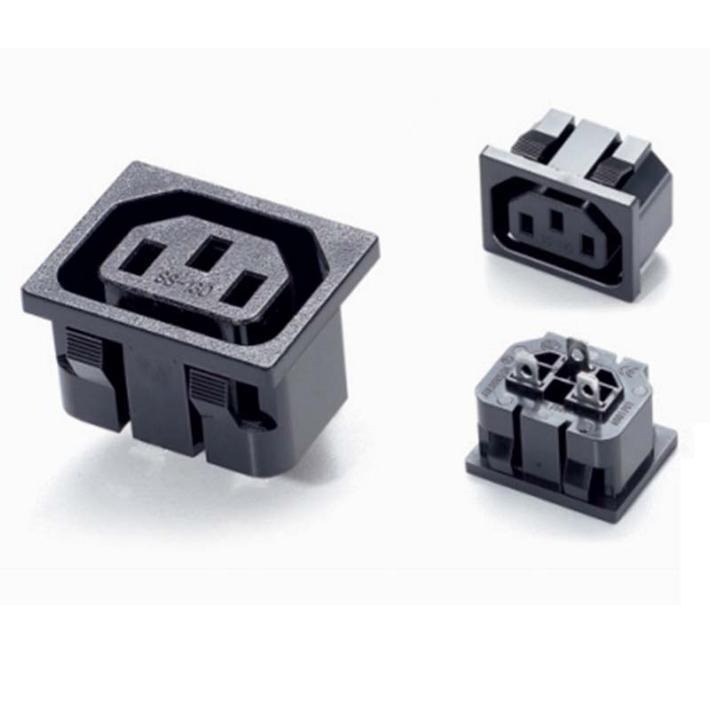 10 teile/los drei loch Elektrische Industrie buchse Stecker IEC 320 ...