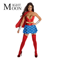 2016 New Superwoman Outfit Role Playing Female Soldiers Serving Wonder Woman Cartoon Heroine Cosplay Dress Clothes