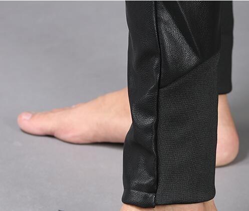 Moto Hop Élastique Harem En Automne Hip Faux 2241 Mode Noir Coréenne Lâche Taille Hiver Cuir Streetwear Discothèque Pantalon wTp7qFS