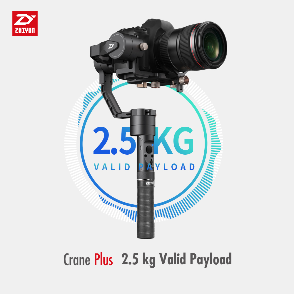 Zhiyun Crane Plus+ 3-Axis Handheld Gimbal Stabilizer for Sony Canon Panasonic DSLR Cameras 2.5KG Payload Object Tracking zhiyun crane 3 axis handheld gimbal stabilizer 360 motors degree moving gimbal vs beholder ds1 ms1 nebula 4000 lite for dslr