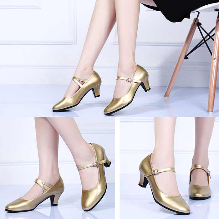 9b945292f ... Pumps Mary Jane shoes for women kitten heel ankle strap buckle pointed  toe ladies shoes for ...