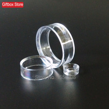 ФОТО Set of Three Clear Acrylic Sphere Stands Crystal Ball Holder Mineral Egg Display Base