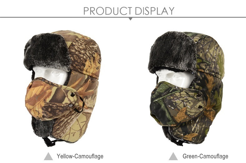 215f105a028d3 2019 Outdoor Hiking Caps Winter Thermal Trapper Hat Camouflage ...