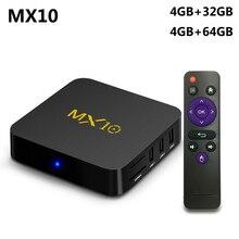MX10 4GB DDR4 64GB ROM Best Android 8.1 TV BOX 2018 RK3328 Quad Core 4K HDR Media Player 2.4G WIFI Smart Set Top Box vs X96 Mini