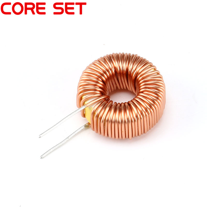 10pcs/lot Naked <font><b>100UH</b></font> 6A Magnetic Induction Coil Toroidal <font><b>inductor</b></font> Winding Inductance For LM2596 High Quality image