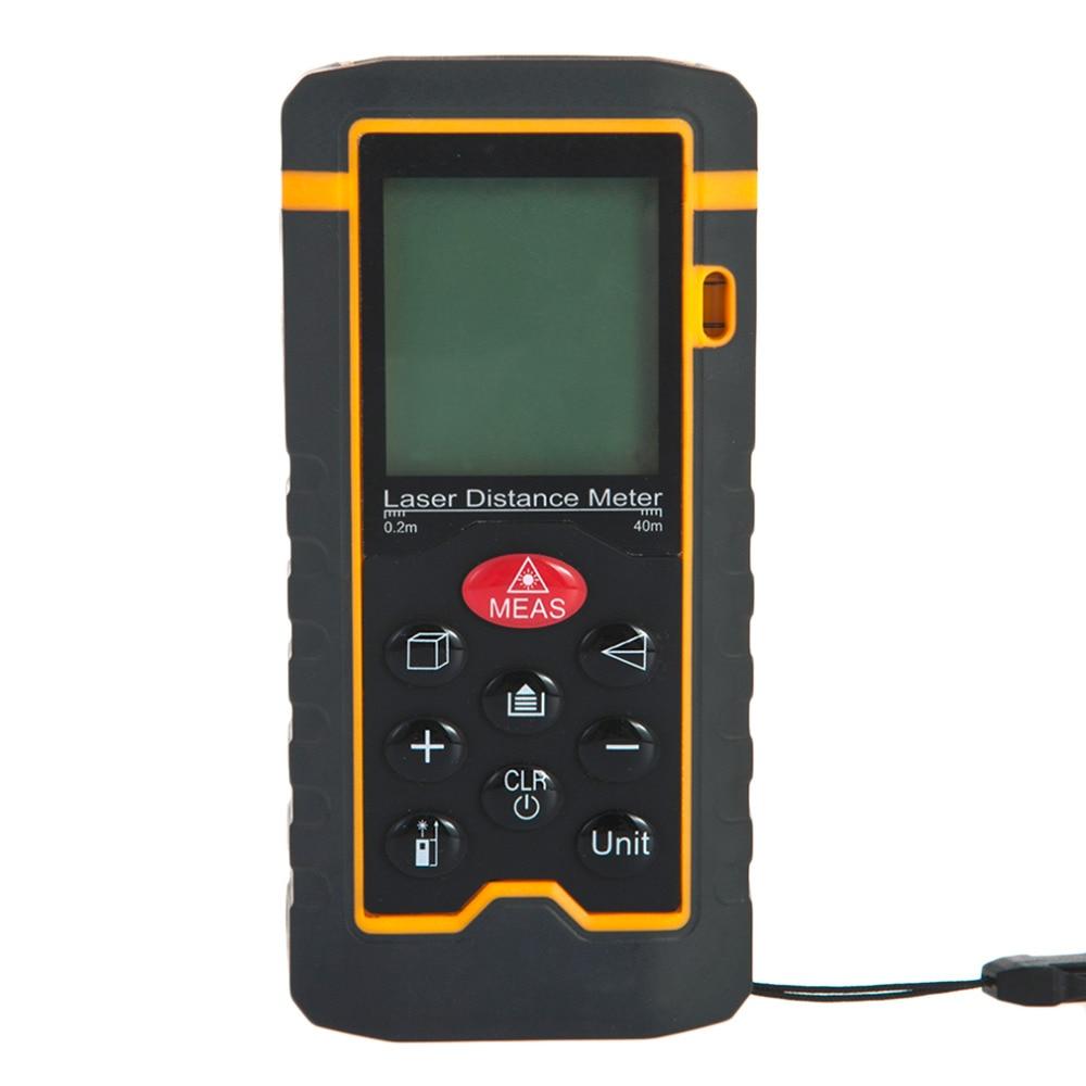 2017 NEW Digital Laser Distance 0.05-60Meter Laser Range Finder Measure Distance/Area/Volume Tool HT-60 m046 new laser guide ultrasonic distance measure range finder 15m mastech ms6450