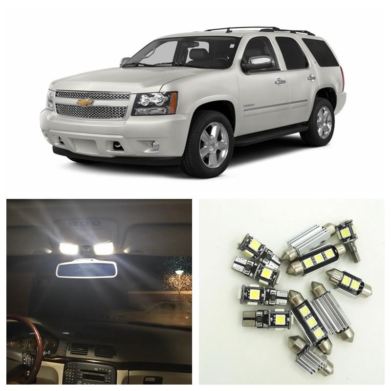 14pcs White LED Light Bulbs Interior Package Kit For Chevy Chevrolet Tahoe 2007-2014 Map Dome License Plate Lamp Chevy-B-13 shanghai chun shu chunz chun leveled kp1000a 1600v convex plate scr thyristors package mail