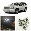 14pcs White LED Light Bulbs Interior Package Kit For Chevy Chevrolet Tahoe 2007-2014 Map Dome License Plate Lamp Chevy-B-13