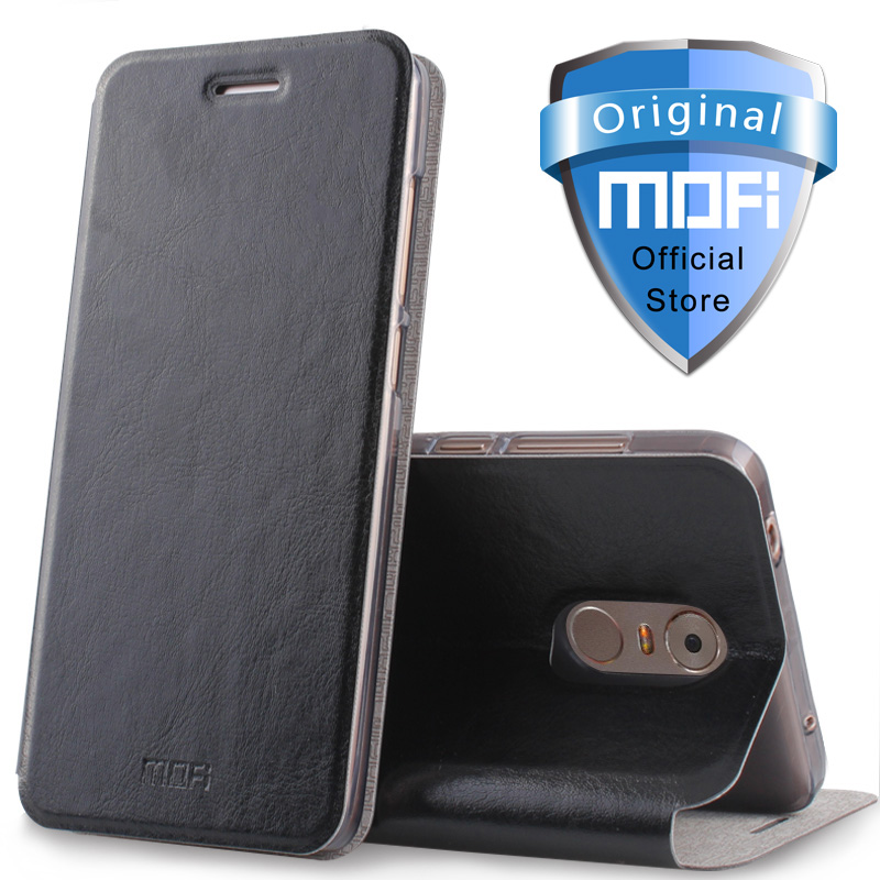 lenovo k6 note case leather flip k6 note case silicone inner mofi original 5.5 inch lenovo k6note case ultra thin metal flip